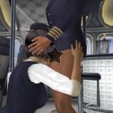 3D sex in airplane : Sex Simulator